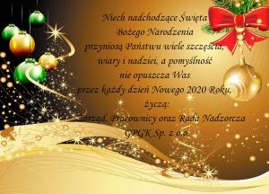Życzenia z okazji Świąt Bożego Narodzenia i Nowego Roku.